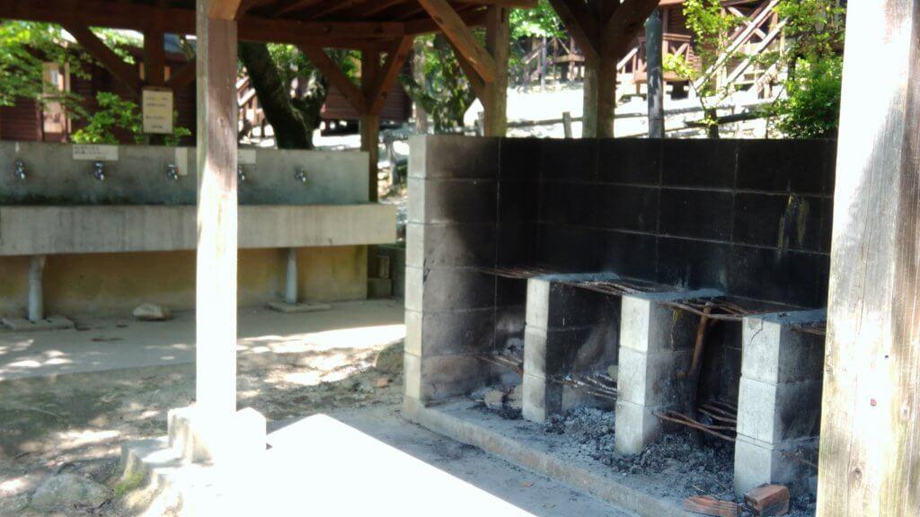 一本松キャンプ場の炊事場 福岡