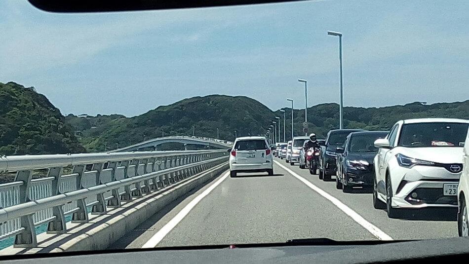 山口県 角島大橋 渋滞