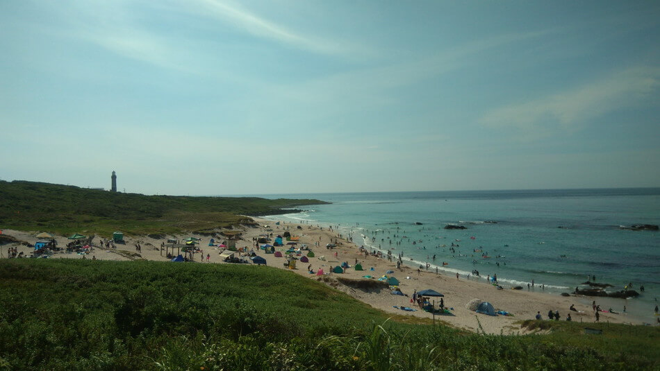 山口 角島キャンプ 海 海水浴 水着