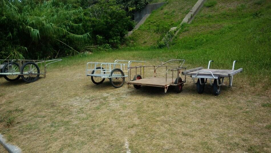 山口 角島 キャンプ 海水浴 リアカー