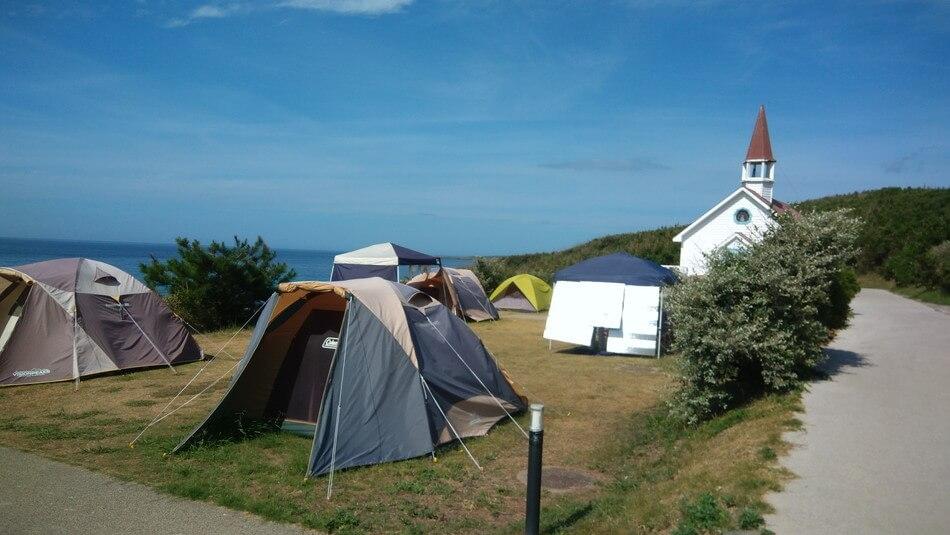 山口県角島キャンプ場テントサイト