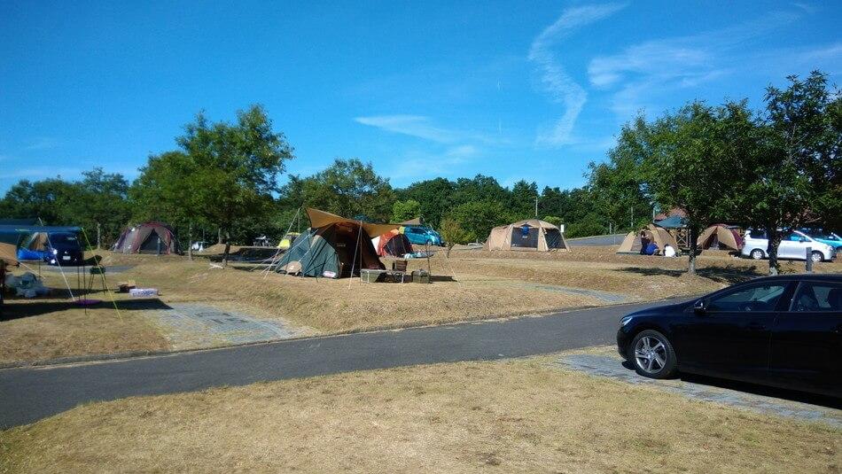 テント キャンプ 島根 菰沢オートキャンプ場 家族 楽しめる 池