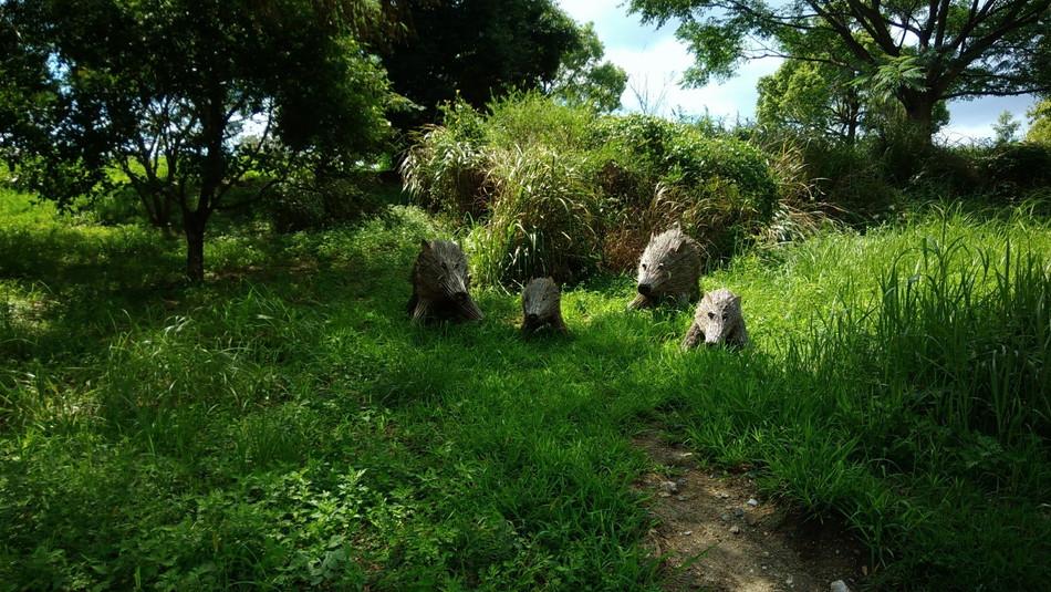 家族でお出かけ。吉野ケ里公園 イノシシ 子供 佐賀