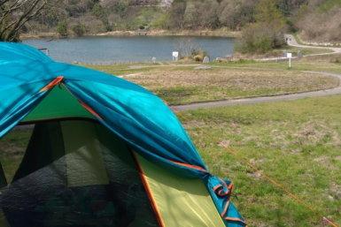 福岡県大野城牛首ダム水辺公園のデイキャンプ