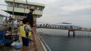 家族でお出かけ釣り福岡市海釣り(フィッシング)公園