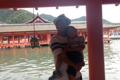 厳島神社 親子 ITSUKUSHIMA shrine HIROSHIMA