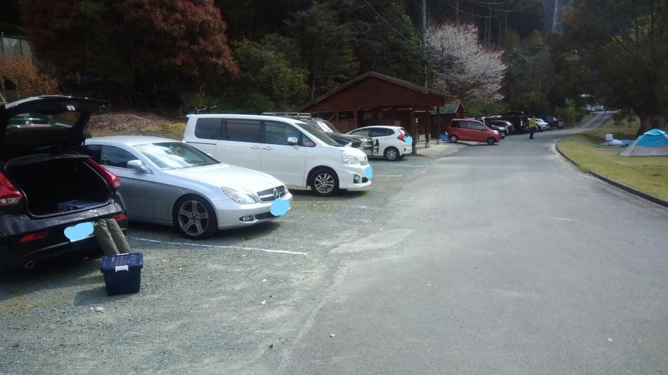 福岡 おすすめキャンプ 日向神峡キャンプ場 駐車場