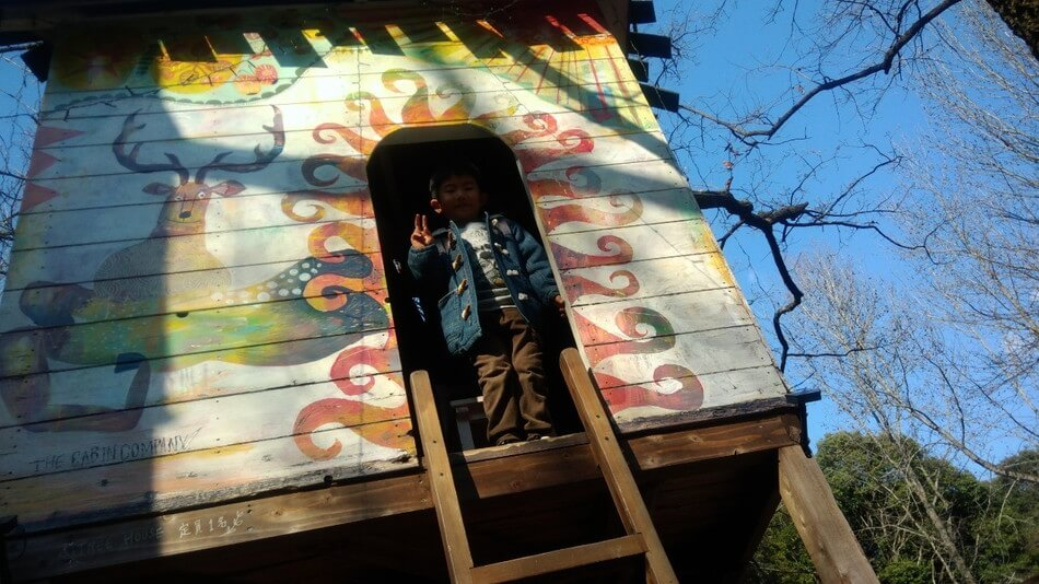 大分バルンバルンの森 ツリーハウスに登る