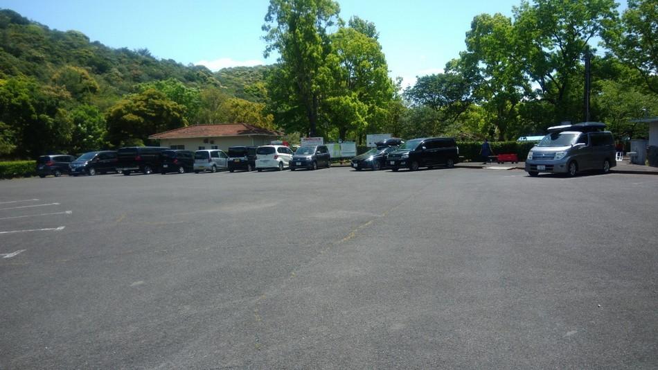 長崎 大崎自然公園のキャンプ場 駐車場