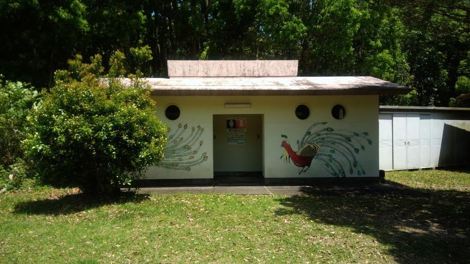 長崎 大崎自然公園キャンプ場のトイレ