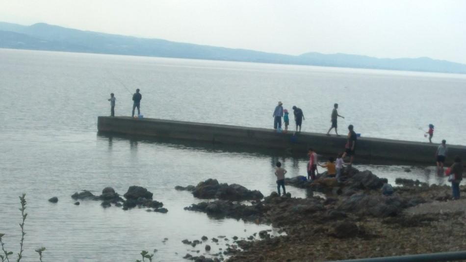 長崎 大崎自然公園キャンプ場の堤防