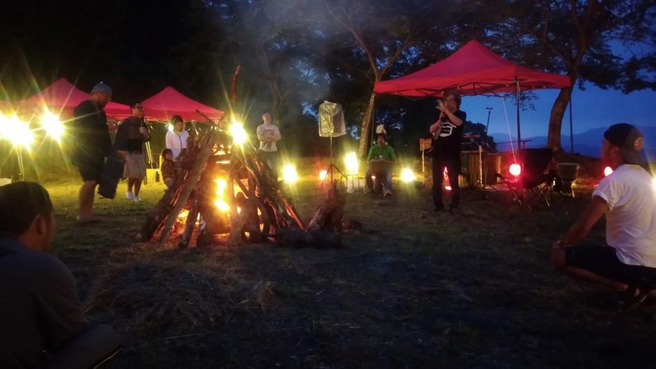 福岡 山 夜の始まり
