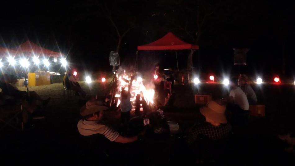 千年夜市キャンプ 音楽