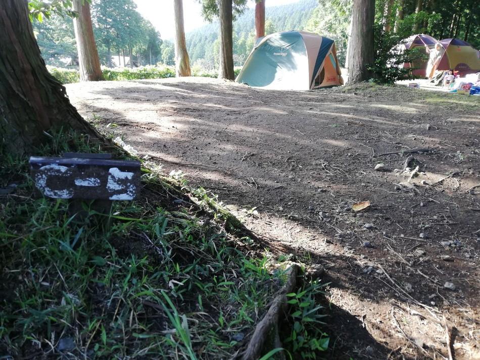 熊本 菊池 四季の里キャンプ場 テントサイト
