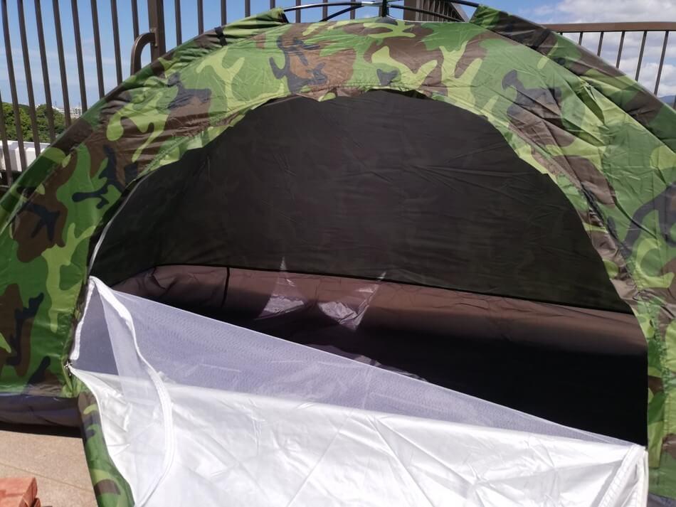 自立式ソロテント 蚊帳