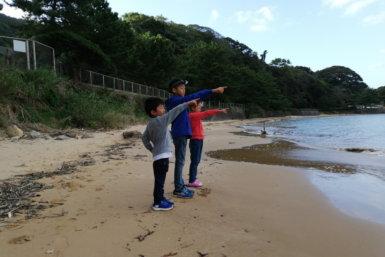 白浜キャンプ場 海