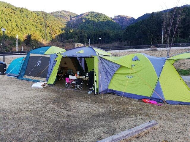 五ケ山キャンプ テントドッキング