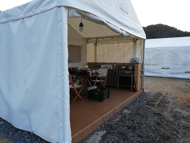 五ケ山キャンプテント