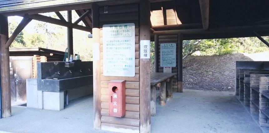 福岡大野城キャンプ場の炊事場