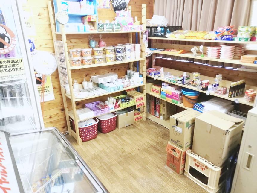 キャンプ場 大野城 売店